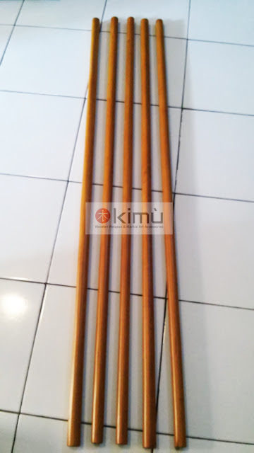 KIMU Gold Dragon 'Jo' (tongkat kayu)