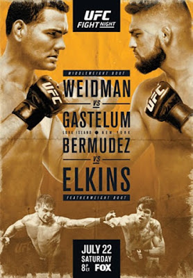 Watch Online English TV Show UFC Fight Night On Fox 25 Weidman vs Gastelum Preliminary Fights 22nd July 2017 300MB DVDRip 480P Free Download At WorldFree4u.Com