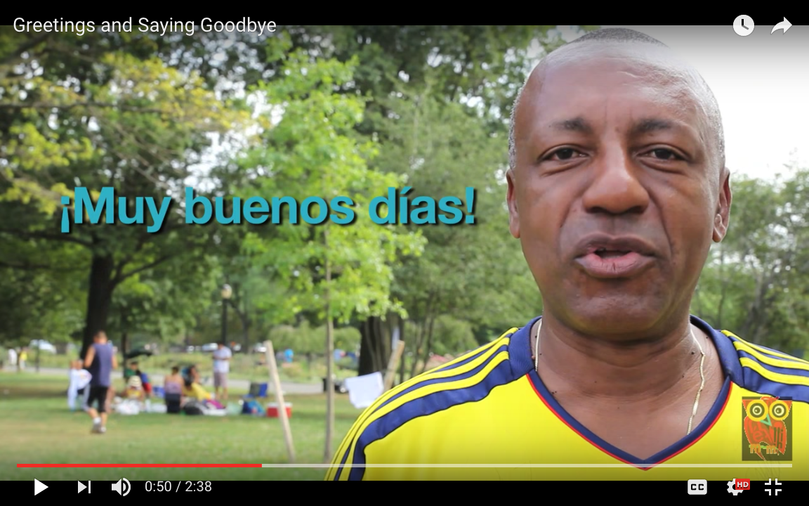Redefine your first weeks of spanish class and beyond i found this great video about greetings and leave takings in spanish spanish in a flash produced it in this video they interview a host of kristyandbryce Gallery