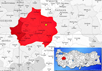 Simav ilçesinin nerede olduğunu gösteren harita
