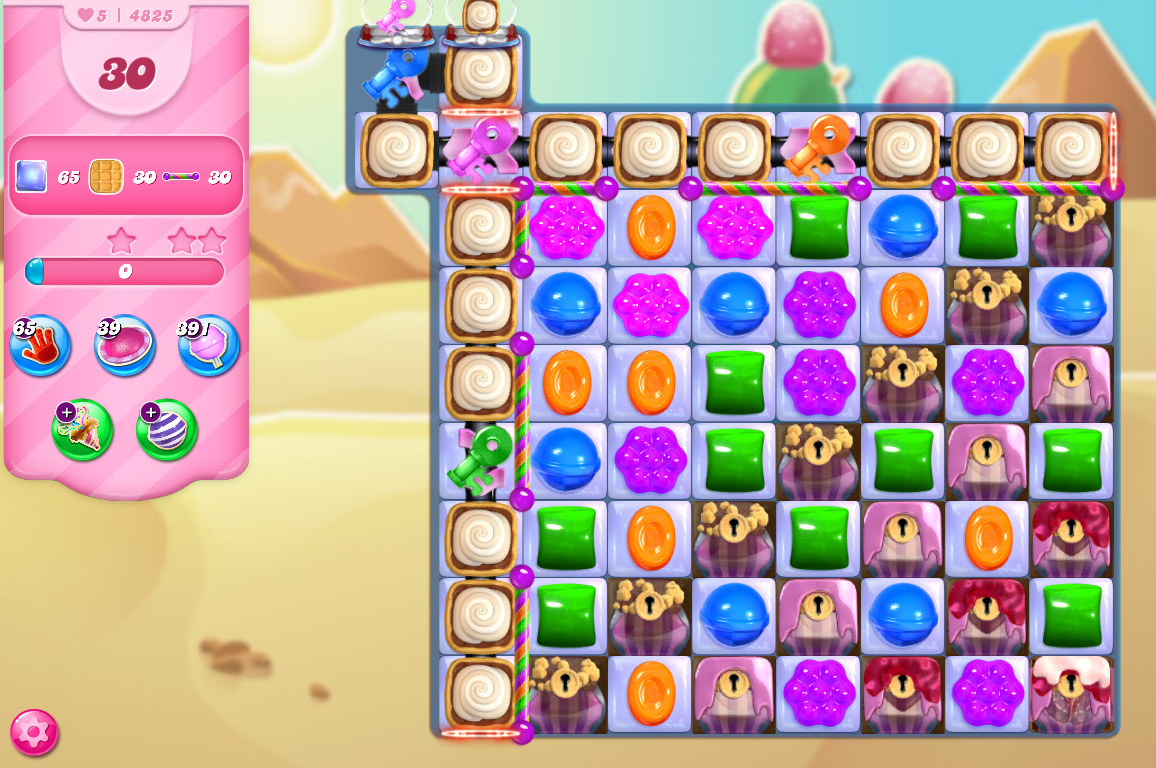 Candy Crush Saga level 4825