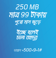 Grameenphone-GP-3G-250MB-99Tk-30days-Validity
