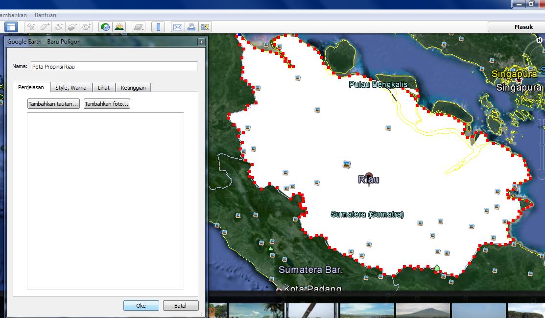 NURHIDA: cara mengambil peta dari Google Earth