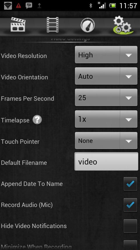 mengambil video screen di layar android