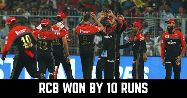 Royal Challengers Bangalore won by 10 runs