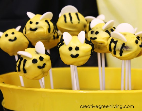 how to make bee cake pops