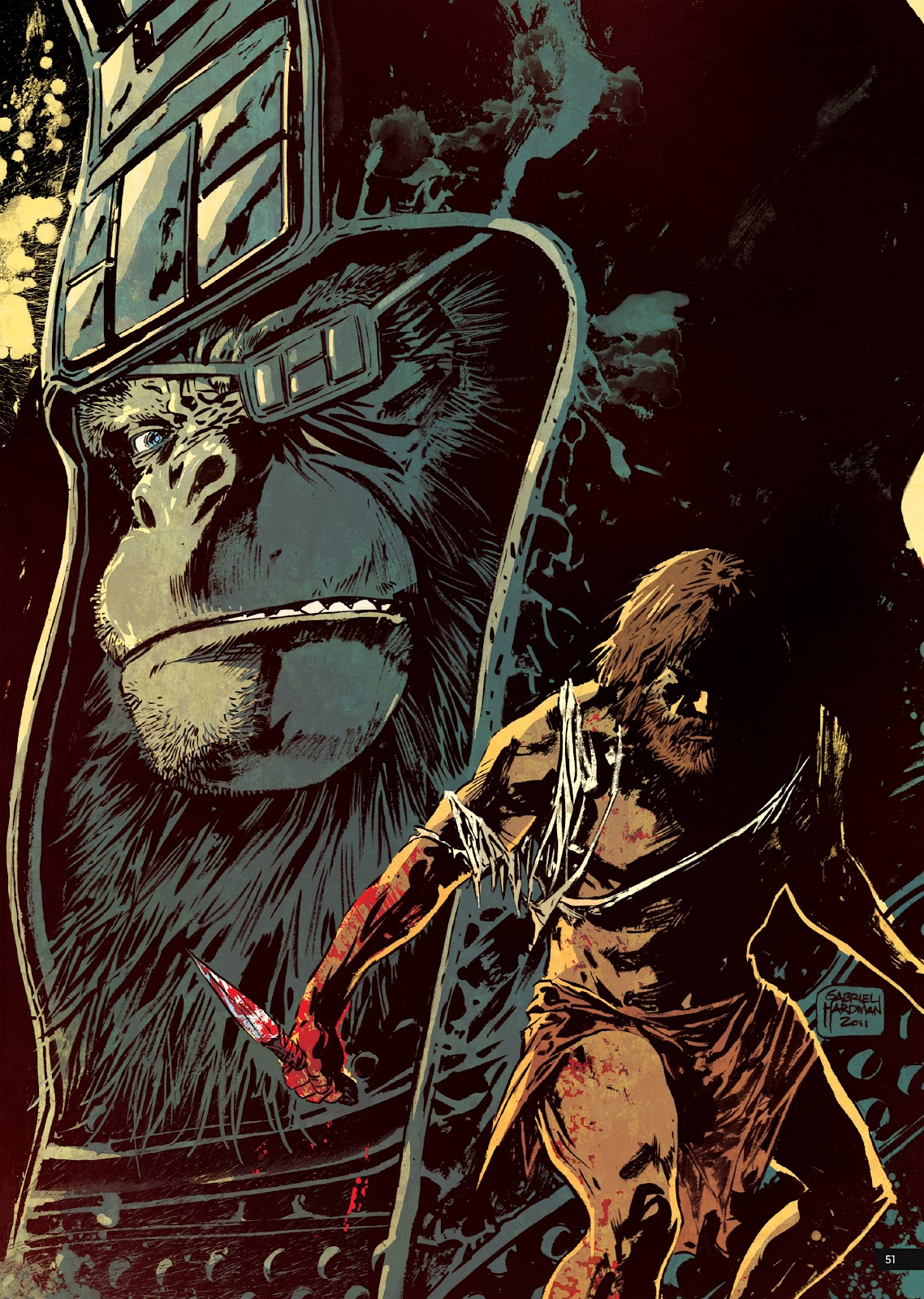 Read online Planet of the Apes Artist Tribute comic -  Issue # TPB - 51