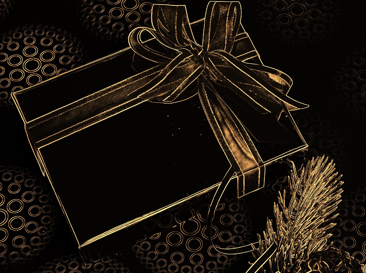 Christmas Wallpaper On Black