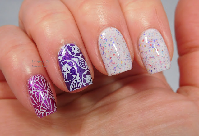 Lina Nail Art Supplies Born To Sail 01 over Girly Bits Cosmetics Codename: Duchess polishes