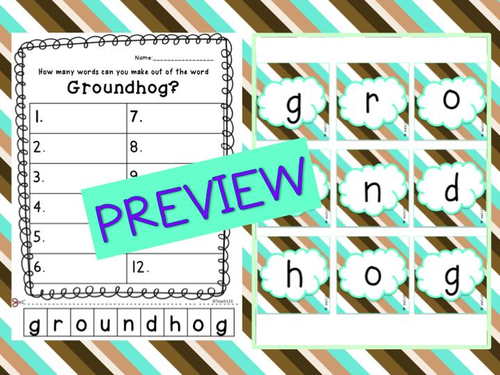Amusing Groundhogs - Teach123