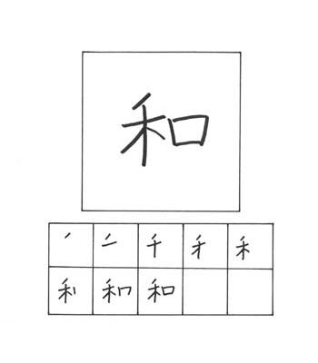 kanji kedamaian