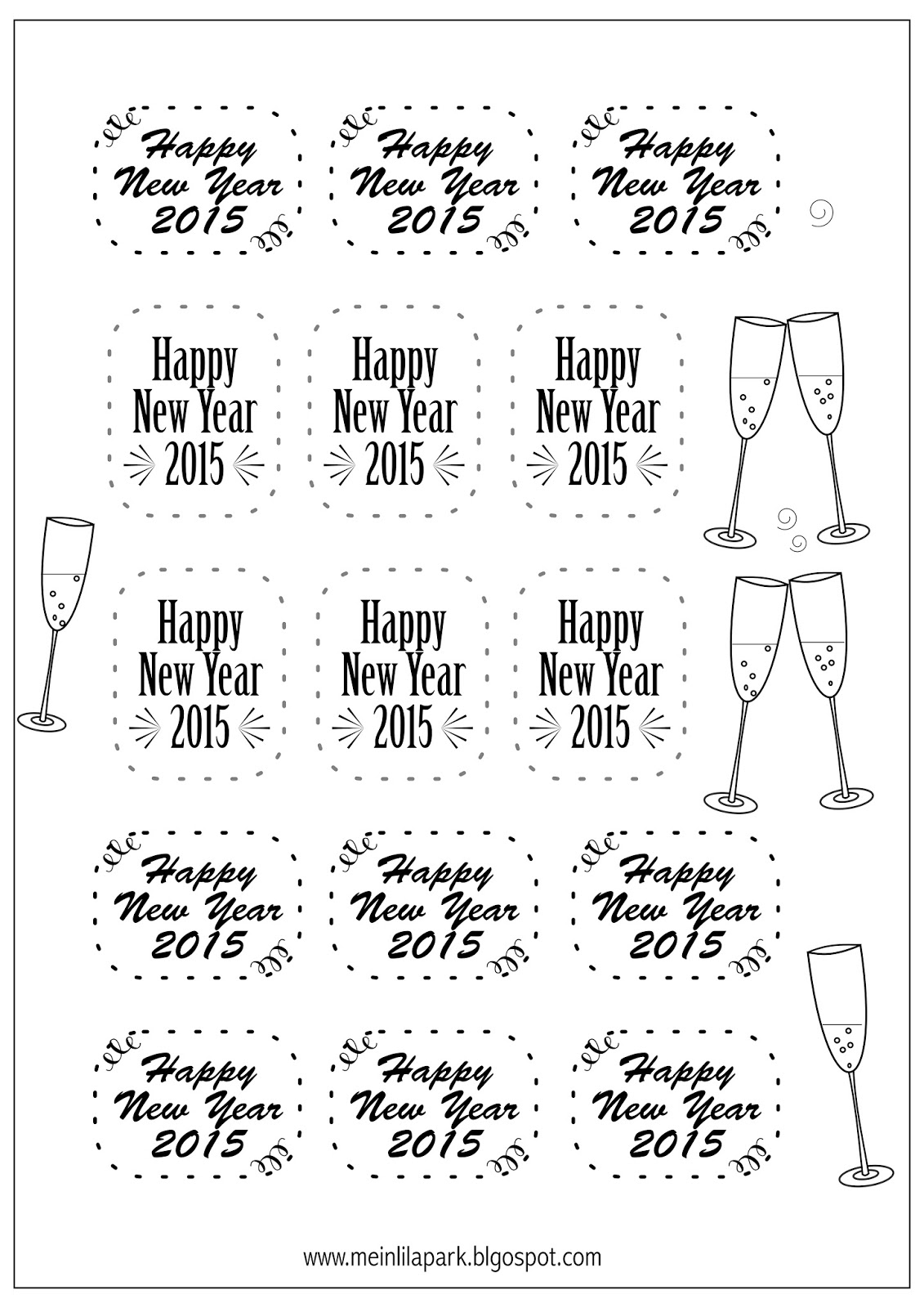 Free Printable New Year S Eve Tags
