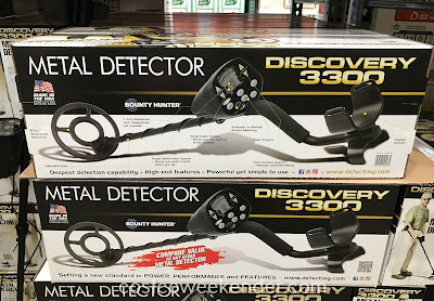 Easily find buried treasure with the Bounty Hunter Discovery 3300 Metal Detector