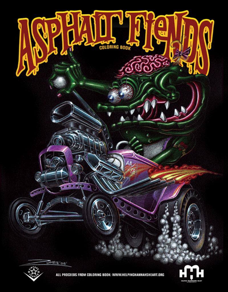 Asphalt fiends coloring book