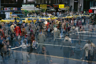 Ernst Haas, Motion Crosswalk I, New York