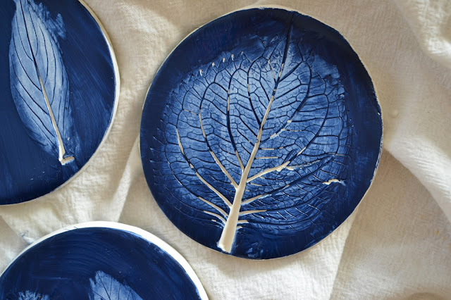 Attic Lace Plant Printed Clay Coasters