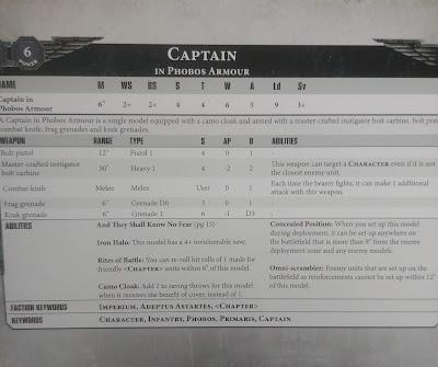 Capitán en armadura Phobos