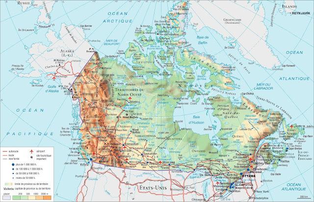 Carte générale du Canada