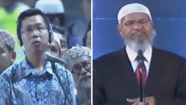 Detik-Detik Dr Adi Wijayanto Masuk Islam di Depan Dr Zakir Naik