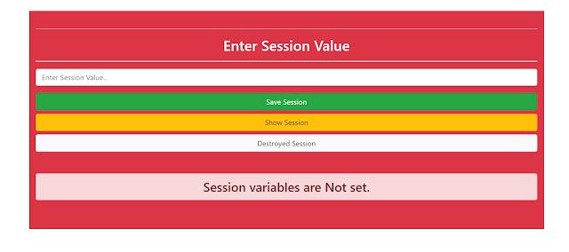 error in session | vrsavani | session variables are not set
