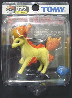 Ponyta Pokemon figure Tomy Monster Collection black package series