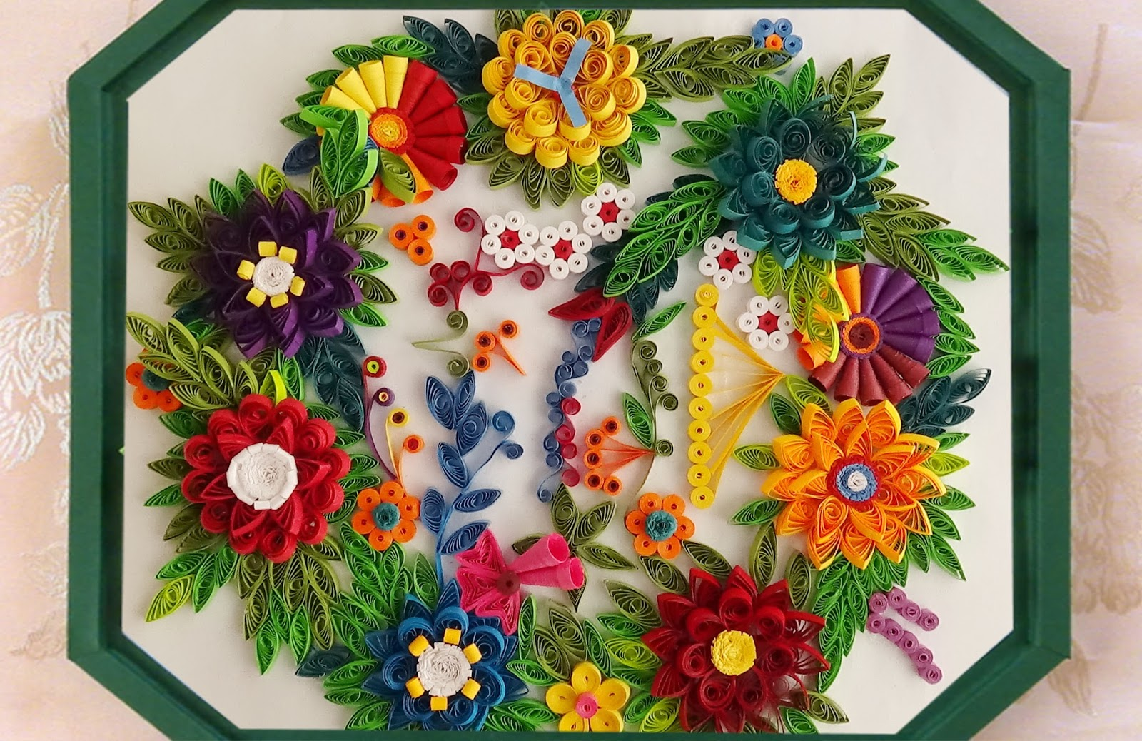 Paper Quilling A Beautiful Bunch Of Flowers For Wall Decoration