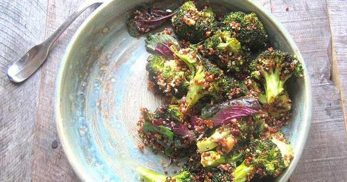 Red Quinoa & Broccoli Salad With Almond Honey Vinaigrette Recipes ...