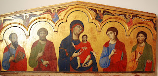 Madone et Saints, Guido da Siena (XIIIème siècle)