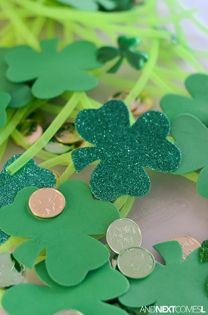 St. Patrick's Day sensory activity for preschoolers and toddlers