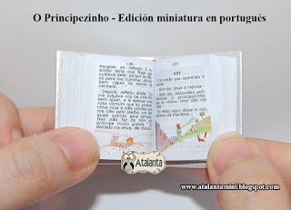 The Little Prince - miniature book - O Principezinho