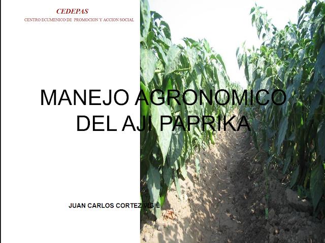 Libros De Agronomia Pdf Gratis Manejo Agronomico Del Aji