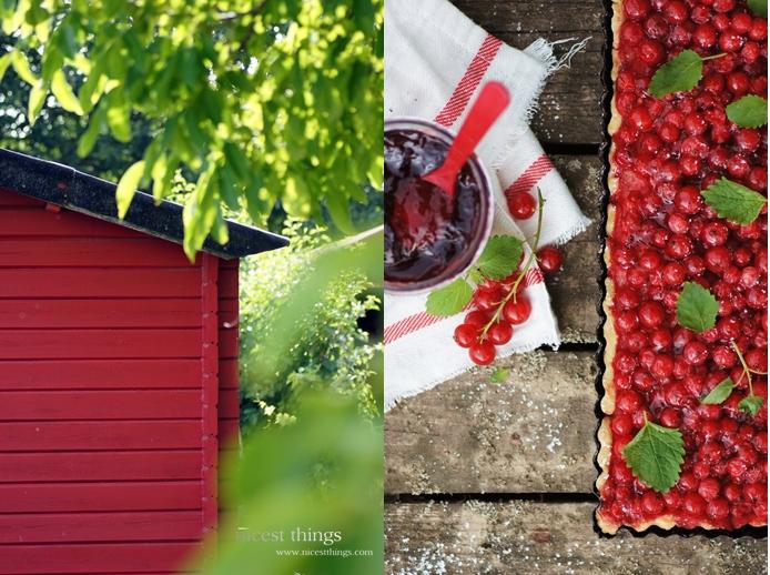 Rotes Gartenhäuschen und Red Currant Tarte