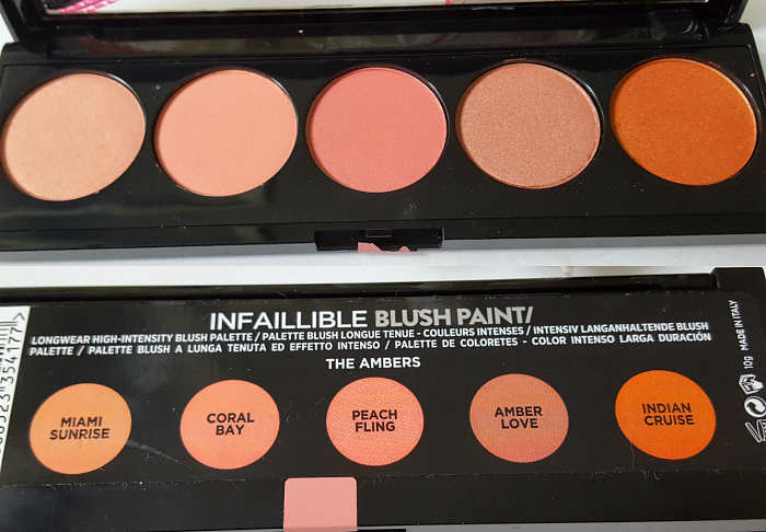 Farben: L´Oréal Paris - Summer Makeup Launches 2017 L´Oréal Paris Infaillible Blush Paint Palette - The Ambers - 10g - 14.95 Euro