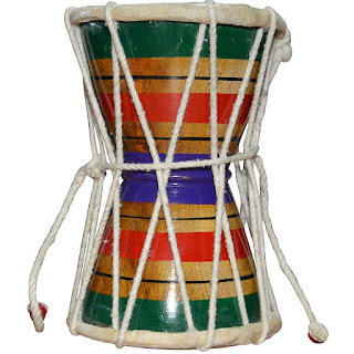 DronaCraft Damru Shiva Drum Percussion Indian Musical Instrument