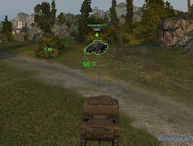 wot mod for aiming