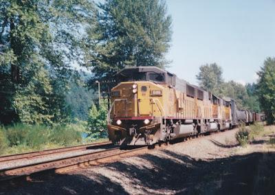 Union Pacific SD60M #6188 at Hampton, Oregon, on July 20, 1997