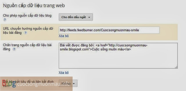 Cài đặt ngăn chặn và bảo vệ dữ liệu blogspot