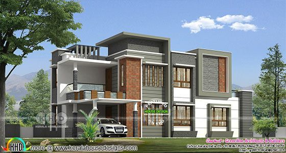 2399 square feet 4 bedroom modern house plan