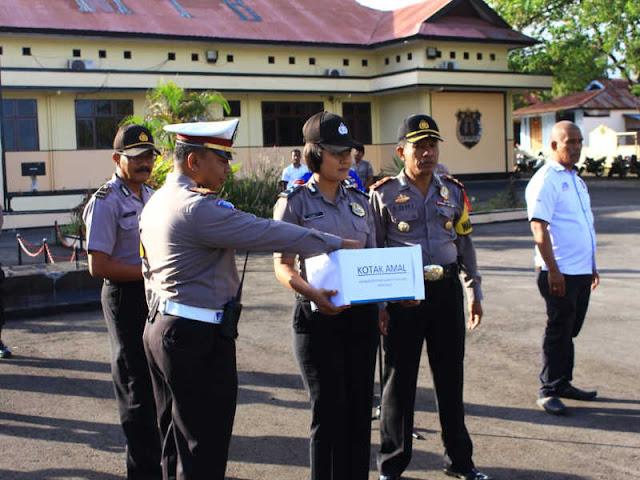 Peduli Korban Bencana di Sulawesi Tengah, Polres MTB Galang Sumbangan