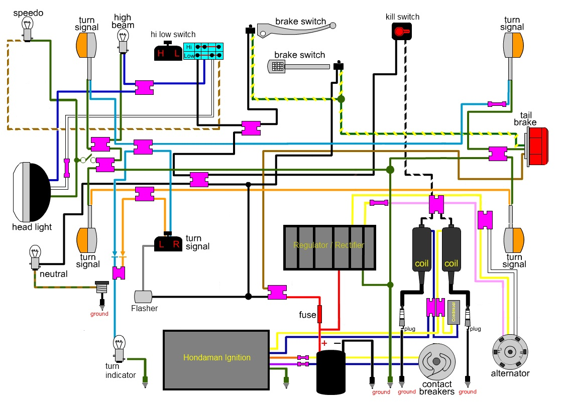 hight resolution of effects stomp switch wiring effects free engine image 74 honda cb360 wiring diagram 1975 honda cb750 wiring schematics