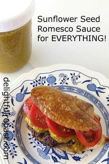 Sunflower Seed Romesco Sauce - good on absolutely anything you can think of! / www.delightfulrepast.com