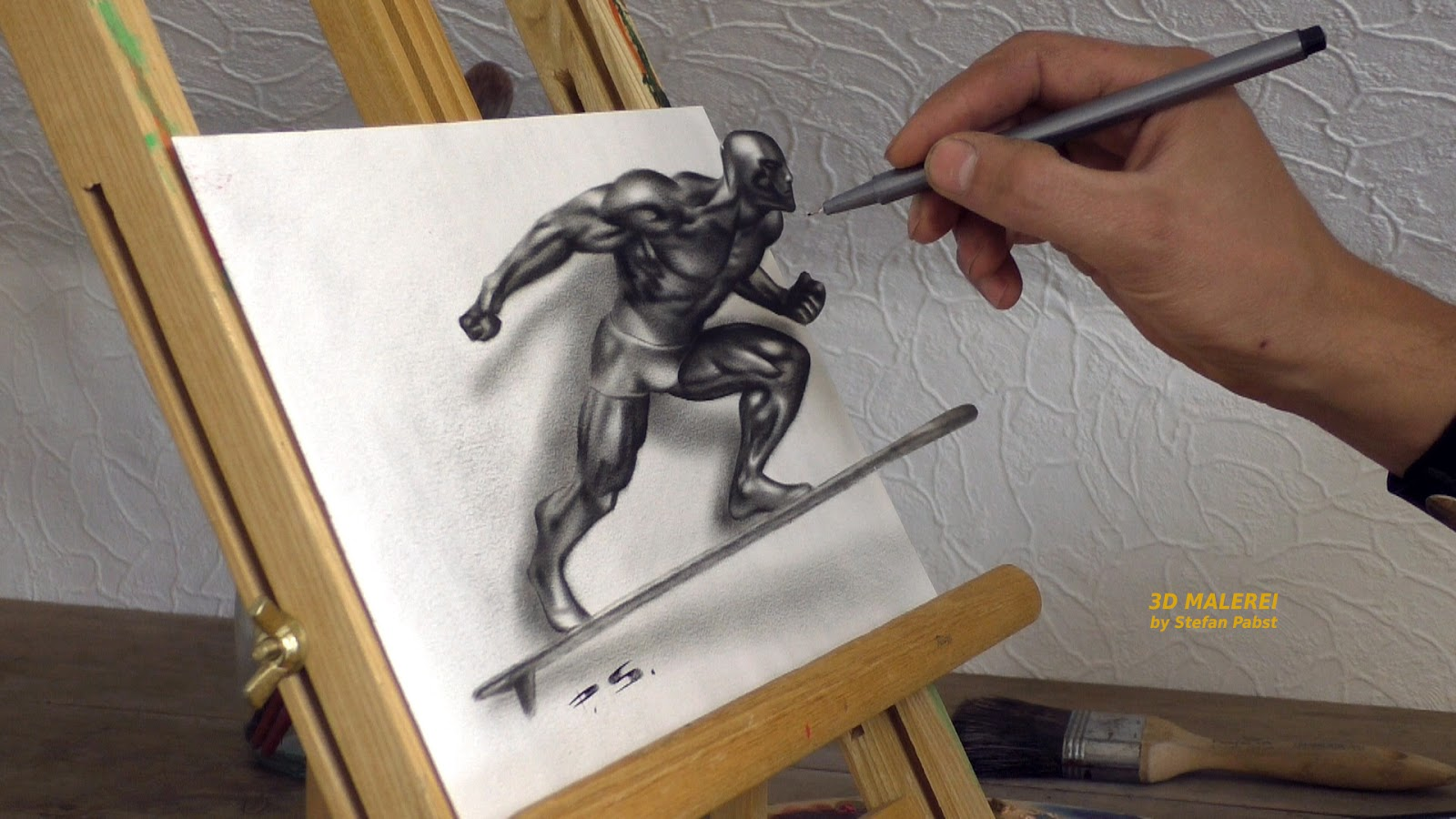 07-Silver-Surfer-Fantastic-Four-Stefan-Pabst-3D-Optical-Illusions-Drawings-and-Paintings-www-designstack-co