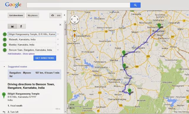 Car drive from BR Hills to Bangalore via Yellandur, Kollegal and Maddur
