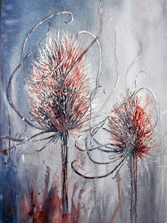 Water Colouf Paintings Teasels