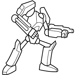 robot coloring pages toddlers easy draw simple