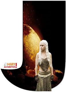 Abecedario de Daenerys con Huevo de Dragón. Daenerys with Dragon Egg Abc.