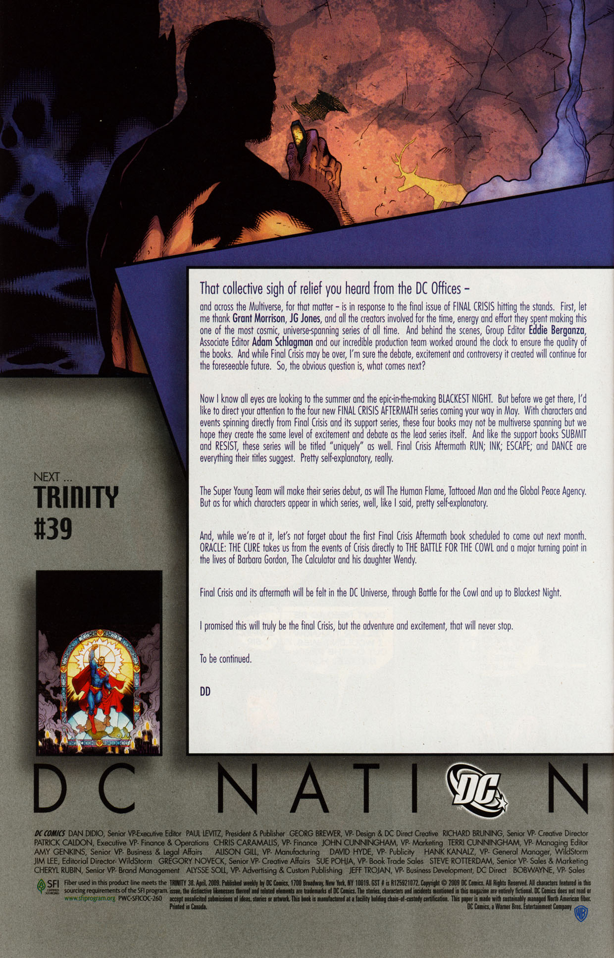 Read online Trinity (2008) comic -  Issue #38 - 31