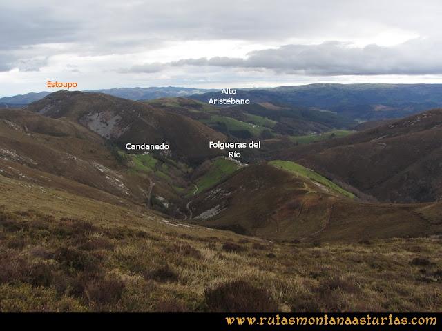 Ruta Alto Aristebano, Estoupo, Capiella Martín: Camino a Folgueras del Rio y Candanedo