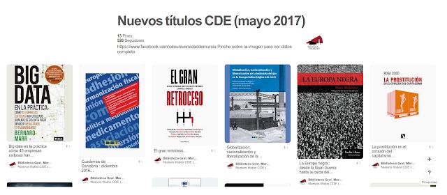 Nuevos títulos CDE (mayo 2017)