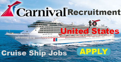 Carnival Cruise Ship Recruitment in USA – Apply Now
